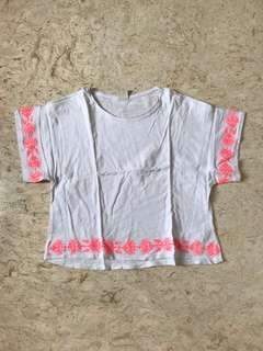 Shirt with Neon Patterns