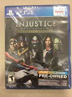 Playstation 4 Injustice (Used)