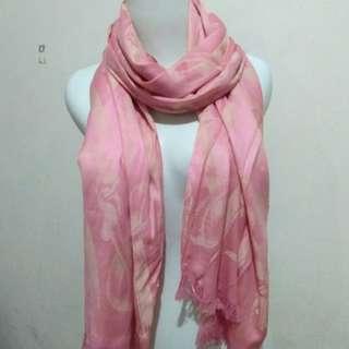 Salem pink silk pashmina
