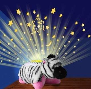 (369) Cuddle Pets - Zebra stars bedroom projector
