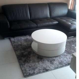 Almost Brand New Large Genuine Leather Lshaped Designer Sofa