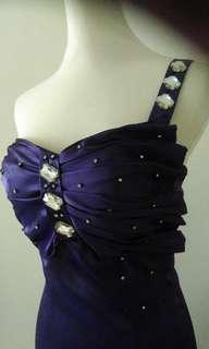紫色洋裝小禮服