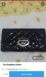 Sling bag /wallet hitam