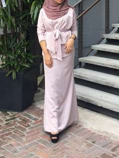 Baju kurung wrap one set