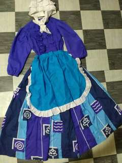2 in 1 Traditional Dutch Costume with Head dress and Filipina Baro't Saya