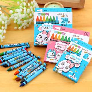 Cute Bunny 8 Colour Crayons