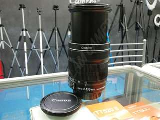 USED CANON EF-S 18-135MM F3.5-5.6 IS STM LENS