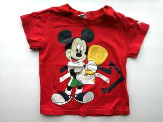 PRELOVED DISNEY BABY Mickey Mouse Red T-shirt - in good condition