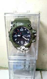 Best Sale !!! Jam Tangan Pilot Double Time Tahan Air ORI