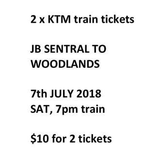 KTM train tickets