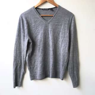 Country Road V-Neck Wool Knit Jumper