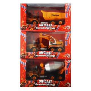 Die-Cast Construction Vehicles - Trucks - SET OF 3 - Good Quality