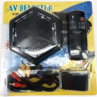 Audio Video Selector RCA 4 Input 1 Output