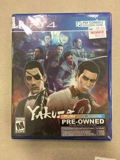 Playstation 4 Yakuza Zero (Used)