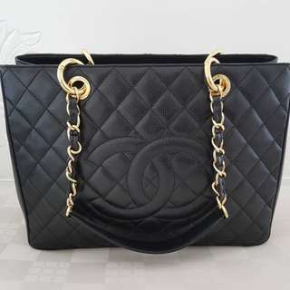 Chanel Grand Shopping Tote Black Caviar with GHW