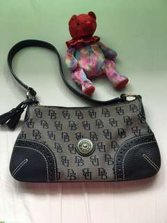 Authentic Dooney & Bourke Monogrammed Small Shoulder Bag