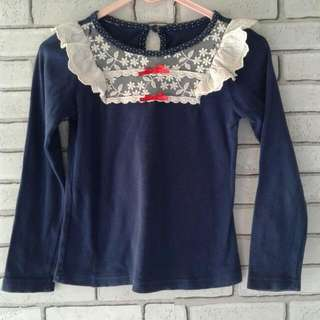 Garage Sale Baju Anak!import Ruffle Navy