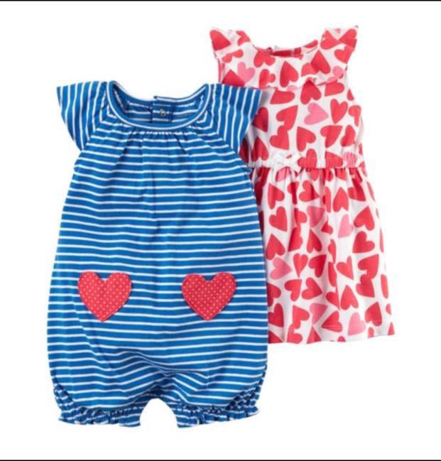 2ab40bd83 12M   24M  Brand New Carter s 3 Pack Dress and Romper Set For Baby ...
