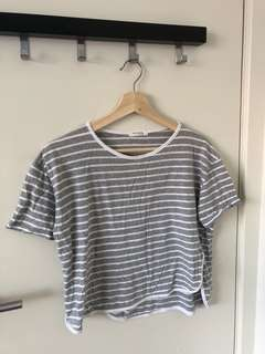Striped grey top