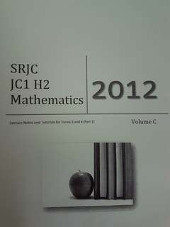 SRJC H2 Mathematics topical lecture and tutorial notes