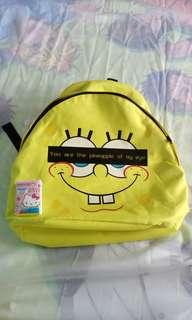 (袋)Meeh Spongebob 海綿寶寶 Backpack (not for kids)