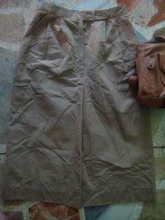 Brown Mid-Length Skirt