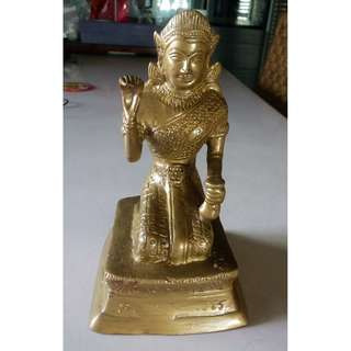 THAI BRASS Statue - The legend of Goddess of Wealth - Nang Kwak