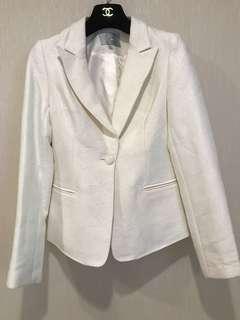 🚚 全新! 白色棉質西裝外套