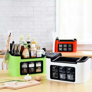 CARFAX ALL IN 1 KITCHEN ORGANIZER WITH 6 SPICE RACK