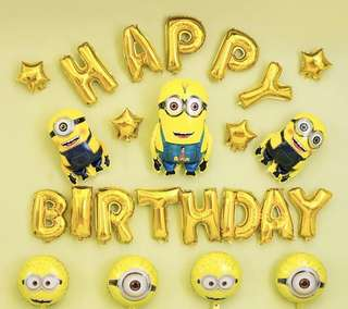 <In-stock>Happy Birthday Decoration set - Minions set 3