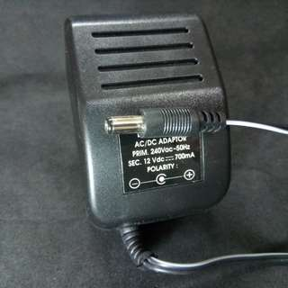12V (DC) 700mA Power Supply Adaptor. New, never used