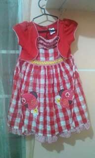 Lovely red checkerd dress