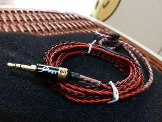 7N單晶銅鍍銀冷涷8絞耳機線