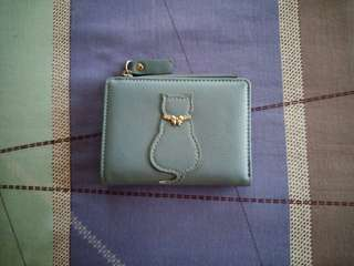 Baby blue wallet