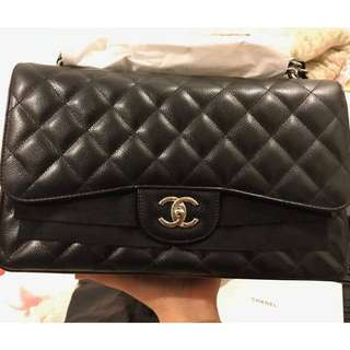 Brand New Chanel Jumbo Double Flap Caviar with SHW