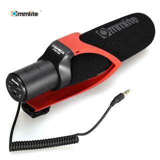 COMMLITE CVM V30 PHOTOGRAPHY INTERVIEW SHOTGUN RECORDING MIC MICROPHONE FOR DSLR CAMERA (DEEP RED) One Size