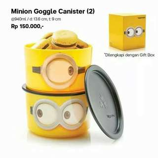 Canister minion by tupoerware new