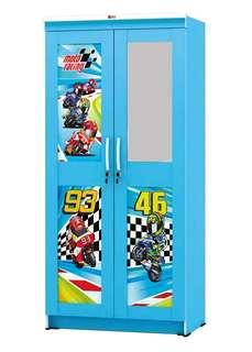 Lemari Pakaian Anak 2 Pintu Activ Moto Racing LP 202