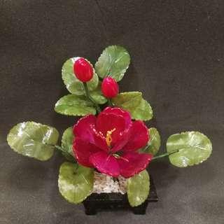 Jade peony flower (good luck),