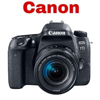Canon 77D (EF-S 18-55mm) DSLR Camera