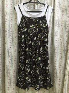 [BN] Floral Maxi Dress with White Top