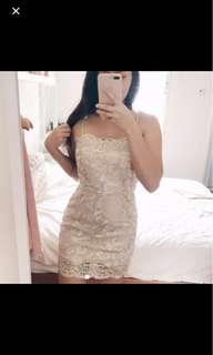 [BN] White Sequined Dress