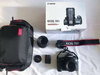 CANON 70D with Canon 50mm + Sigma 18-200 + accessories