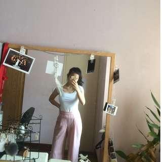 Blush pink culottes