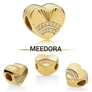 GOLD PLATED FAN OF LOVE CHARM PANDORA