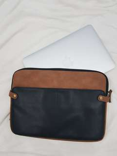 TYPO Macbook Air 11 Inch Faux Leather and Faux Suede Sleeve