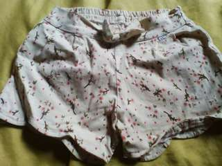Yellow Kids Floral Shorts