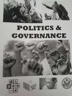 GP notes booklet on various topics international relations , The world today , politics and governance