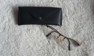 Luxottica gold with bronze prints eye frame (metal)