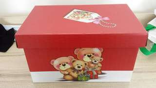 BRAND NEW BN RED BEAR GIFT BOX 34.5 CM X 19CM ♡ SELF COLLECT CANBERRA STREET ♡ ALL OCCASION ♡ TRENDY ♡ BIRTHDAY PRESENT ♡ VALENTINE DAY